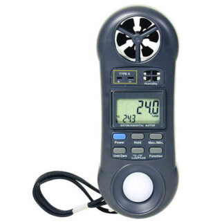 """4-IN-1 ENVIRONMENTAL AIRFLOW METER WITH """"K"""" PORT WITH CASE MEASURES AIRFLOW, HUMIDITY,TEMP & LIGHT"""