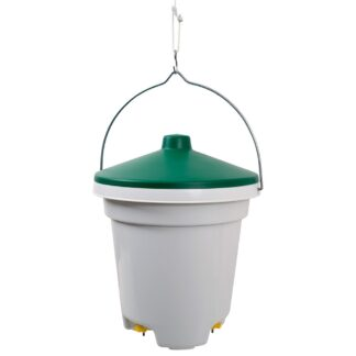 HANGING DRINKER BUCKET WITH NIPPLES 12L